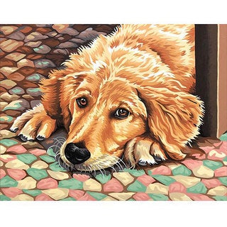 Dimensions 'Dog Tired' Paint By Number Kit