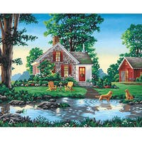 Paint Works 'Summer Cottage' 20x16-inch Paint by Number Kit