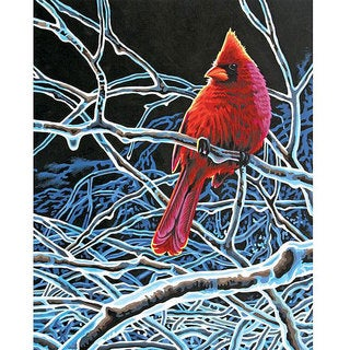 Paint Works 'Ice Cardinal' 11x14-inch Paint by Number Kit