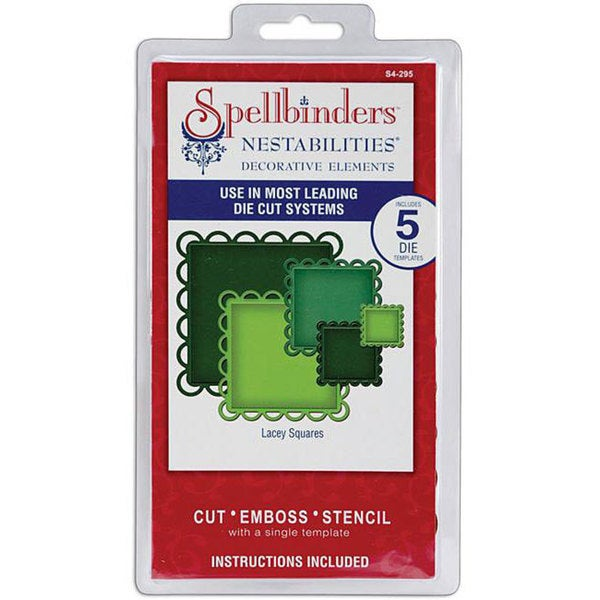 Spellbinders Nestabilities Lacey Squares Decorative Elements Dies. Opens flyout.