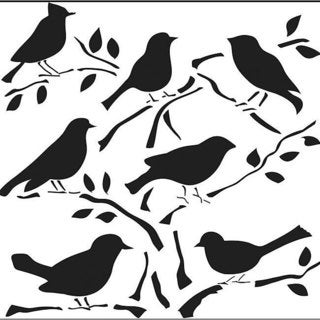The Crafters Workshop Birds Template