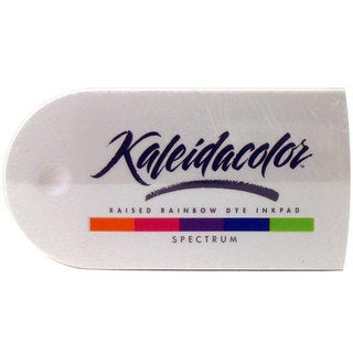 Kaleidacolor Spectrum Raised Rainbow Dye Ink Stamp Pad