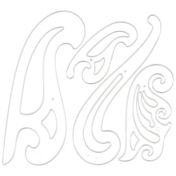 French Curve Stencil Set (Set of 4)