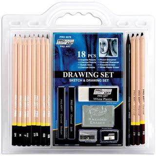 Pro Art 18-piece Drawing Set with Graphite and Charcoal Pencils|https://ak1.ostkcdn.com/images/products/5521865/P13301723.jpg?impolicy=medium