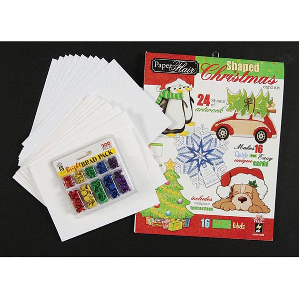 Paper Flair Shaped Christmas Cards Kit