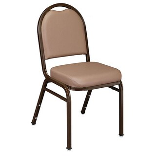 NPS Dome Padded Stack Chair (Pack of 2) (Option: Rich Maroon Fabric with Silvervein Frame)