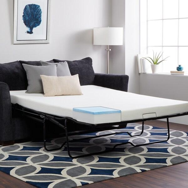 Select Luxury Flippable 4 Inch Twin Size Foam Sofa Sleeper Mattress ( Mattress Only