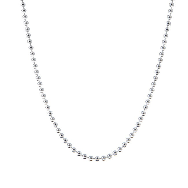 Sterling Essentials Sterling Silver 20-inch Italian Bead Chain (2 mm)