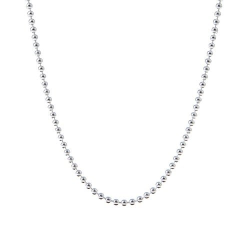 Roberto Martinez Sterling Silver 30-inch Italian Bead Chain (2mm)
