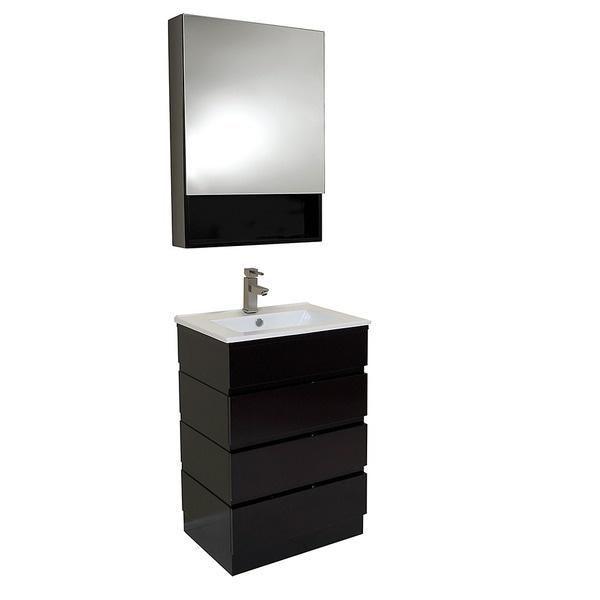 bathroom cypress vanity sink wall espresso modern mounted single itm