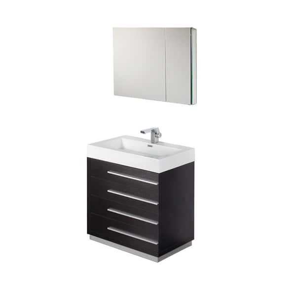Shop Fresca Livello 30 Inch Black Bathroom Vanity And