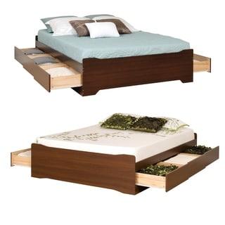 Yaletown Espresso Double 6-drawer Platform Storage Bed
