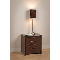 Yaletown 2-drawer Espresso Night Stand