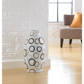 Handmade Modern Circles Decorative Jug Vase (Indonesia)