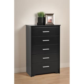 Yaletown 5-drawer Black Chest
