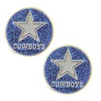Dallas Cowboys Glitter Stud Earrings