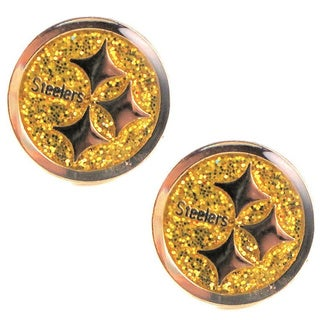 Pittsburgh Steelers Glitter Stud Earrings