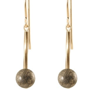 14k Gold Fill 'Swirls and Stones of Antiqued Gold' Earrings (4 options available)