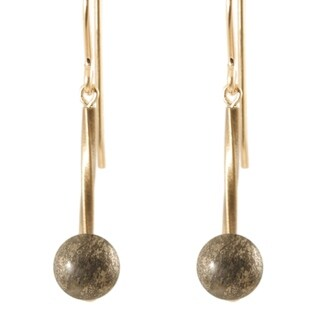 14k Gold Fill 'Swirls and Stones of Antiqued Gold' Earrings