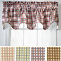 Ellis Curtain Charlestown Check Scallop Valance