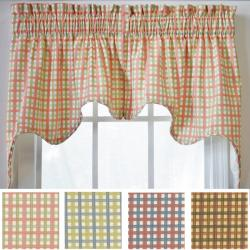 Charlestown Check Empress Valance 2-piece Swag Set
