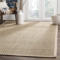 Safavieh Casual Natural Fiber Hand-Woven Sisal Natural / Beige Seagrass Rug (8' Square) - 8'