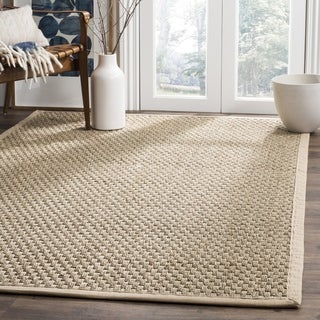 Safavieh Casual Natural Fiber Hand-Woven Sisal Natural / Beige Seagrass Rug (8' Square)