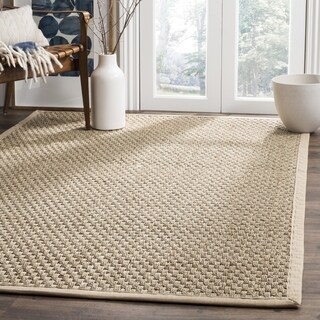 Safavieh Casual Natural Fiber Hand-Woven Sisal Natural / Beige Seagrass Rug - 8' x 8' Square