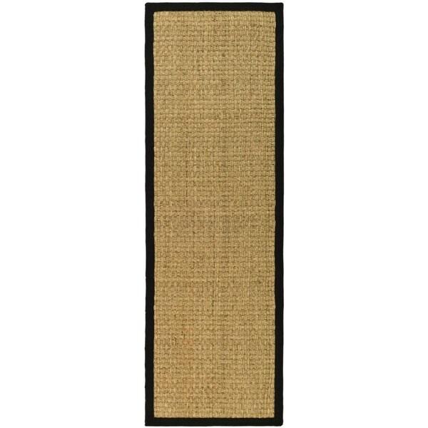Safavieh Casual Natural Fiber Natural and Black Border Seagrass Runner (2'6 x 10')