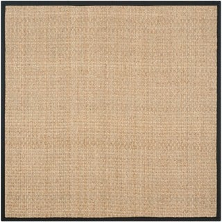 safavieh casual natural fiber handwoven sisal natural black seagrass rug 8u0027 - Seagrass Rug