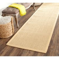 Safavieh Casual Natural Fiber Hand-Woven Resorts Natural / Beige Fine Sisal Runner Rug - 2'6 x 12'