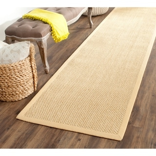Safavieh Casual Natural Fiber Hand-Woven Resorts Natural / Beige Fine Sisal Runner (2'6 x 14')