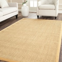 Safavieh Casual Natural Fiber Hand-Woven Resorts Natural / Beige Fine Sisal Rug - 8' x 8' Square