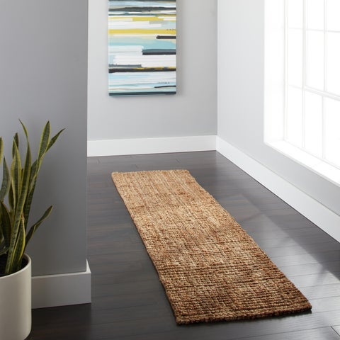 """Safavieh Casual Natural Fiber Hand-Woven Natural Accents Chunky Thick Jute Rug - 2'6"""" x 14'"""