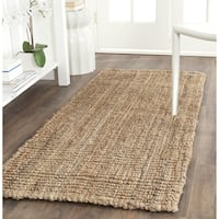 Safavieh Casual Natural Fiber Hand-Woven Natural Accents Chunky Thick Jute Rug (2'6 x 4') - 2'6 x 4'