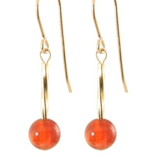 14k Gold Fill 'Swirls and Stones of Shining Gold' Earrings