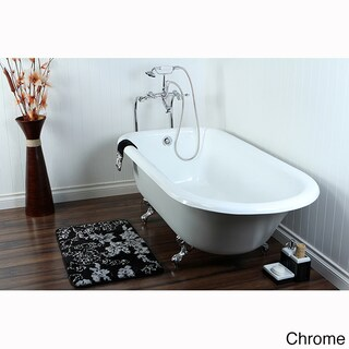 """Queen Elizabeth 67-inch Classic Cast Iron Clawfoot Tub - 67"""" (4 options available)"""