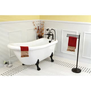 used acrylic clawfoot tub. Vintage Collection 67 Inch White Acrylic Clawfoot Slipper Tub Claw Foot Tubs For Less  Overstock