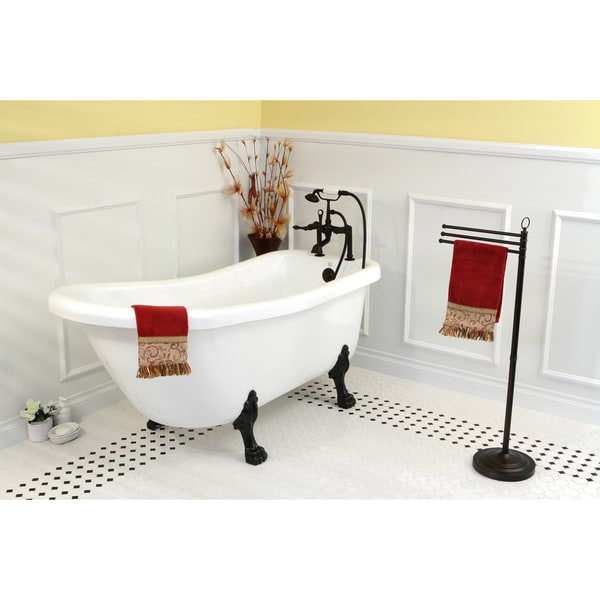 acrylic clawfoot tub package. Vintage Collection 67 Inch White Acrylic Clawfoot Slipper Tub  Free