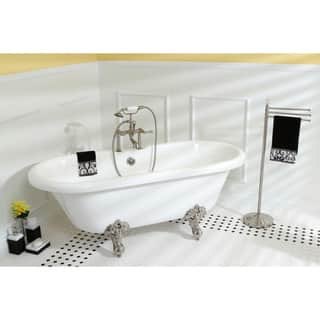 Vintage Collection 67-inch Acrylic Dual Clawfoot Tub with 7-inch Rim Drillings|https://ak1.ostkcdn.com/images/products/5524590/P13303919.jpg?impolicy=medium