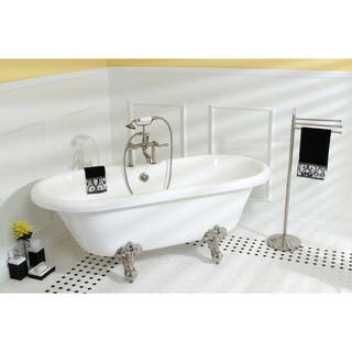 vintage collection 67 inch acrylic dual clawfoot tub with 7 inch rim drillings - Acrylic Clawfoot Tub