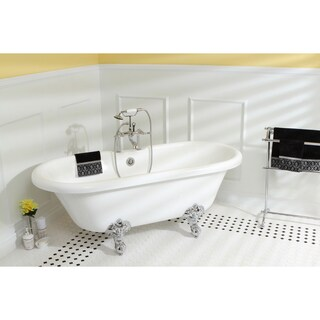 Vintage Collection 67-inch Acrylic Dual Clawfoot Tub with 7-inch Rim Drillings (Option: satin nickel)