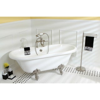 Vintage Collection 67-inch Acrylic Dual Clawfoot Tub with 7-inch Rim Drillings (4 options available)