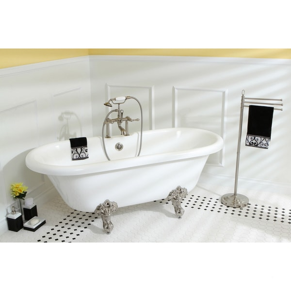 48 inch clawfoot tub. vintage collection 67-inch acrylic dual clawfoot tub with 7-inch rim drillings 48 inch d