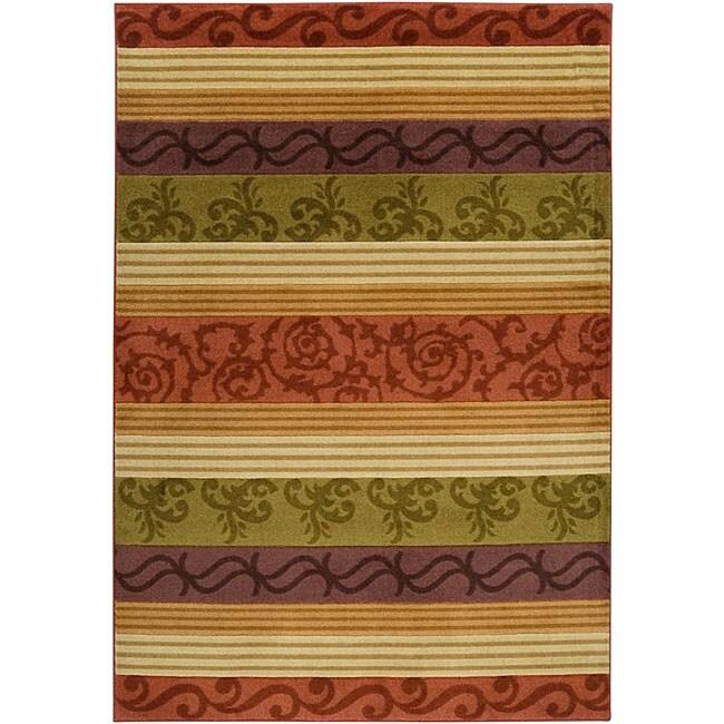 Loomed Replica Red Stripe Rug (7'10 x 10'1)