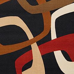 Loomed Replica Black Geometric Rug (7'10 x 10'1)
