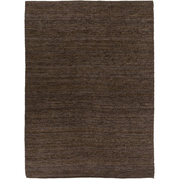 Hand-woven Cottage Brown Natural Fiber Jute Area Rug - 8' X 11'