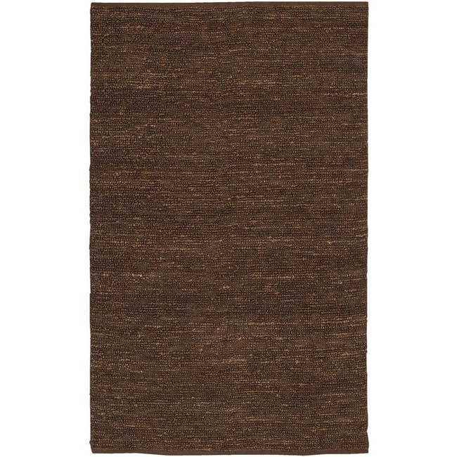 Hand-woven Cottage Brown Natural Fiber Jute Area Rug (8' x 11')