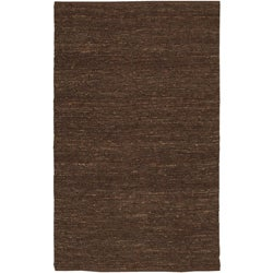 Hand-woven Cottage Brown Natural Fiber Jute Area Rug (8' x 11') - Thumbnail 0