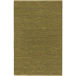 Hand-woven Cottage Lime Green Natural Fiber Jute Rug (3'6 x 5'6)